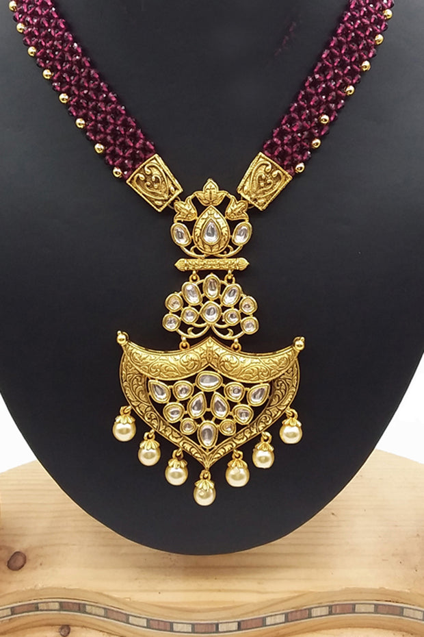 Gold Necklace with Earrings at Best Offer Price