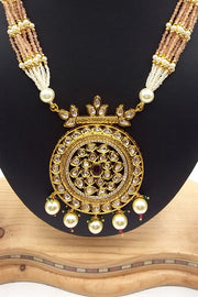 Buy Beautiful Necklace Set in Gold