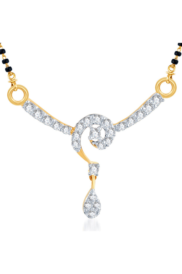 Alloy Mangalsutra Pendant in White and Golden