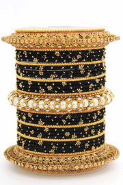 Women's Brass Bangles in Black