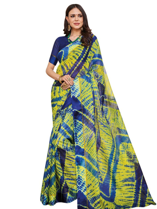 Stylee Lifestyle Art Silk Saree in Green