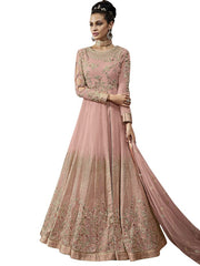 Women's Georgette Anarkali Set in Pink