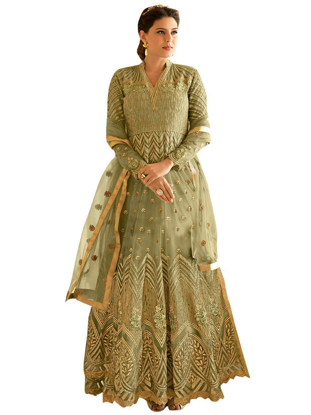 Women's Net Anarkali Set