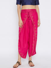 Bitterlime Women's Viscose Dhoti in Pink