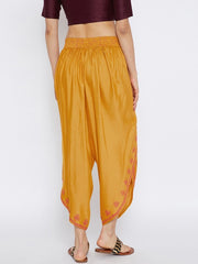 Viscose Dhoti in Mustard