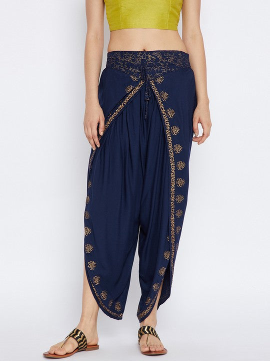 Viscose Dhoti in Navy Blue
