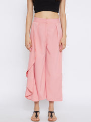 Polyester Trouser in Peach