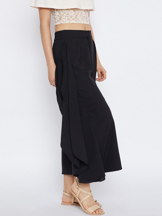 Polyester Trouser in Black