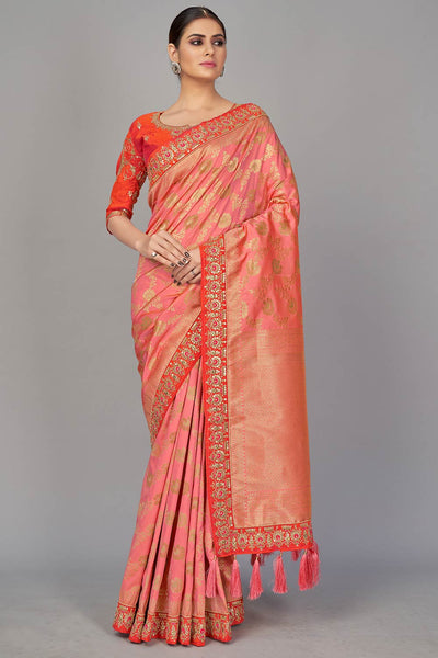 Buy Silk Embroidered Saree Online