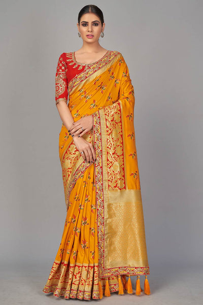 Buy Embroidered Saree Online