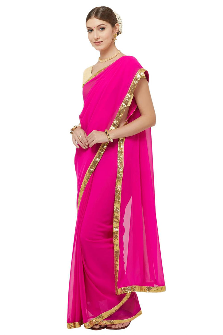 Unstitched Saree For Girl