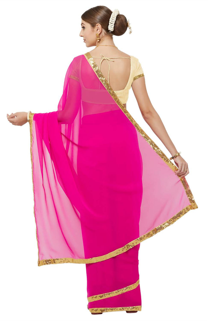 Ready To Wear Pink Saree