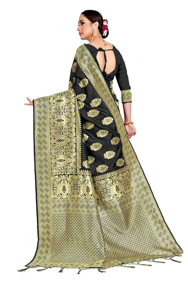 Banarasi Silk Woven Saree in Black