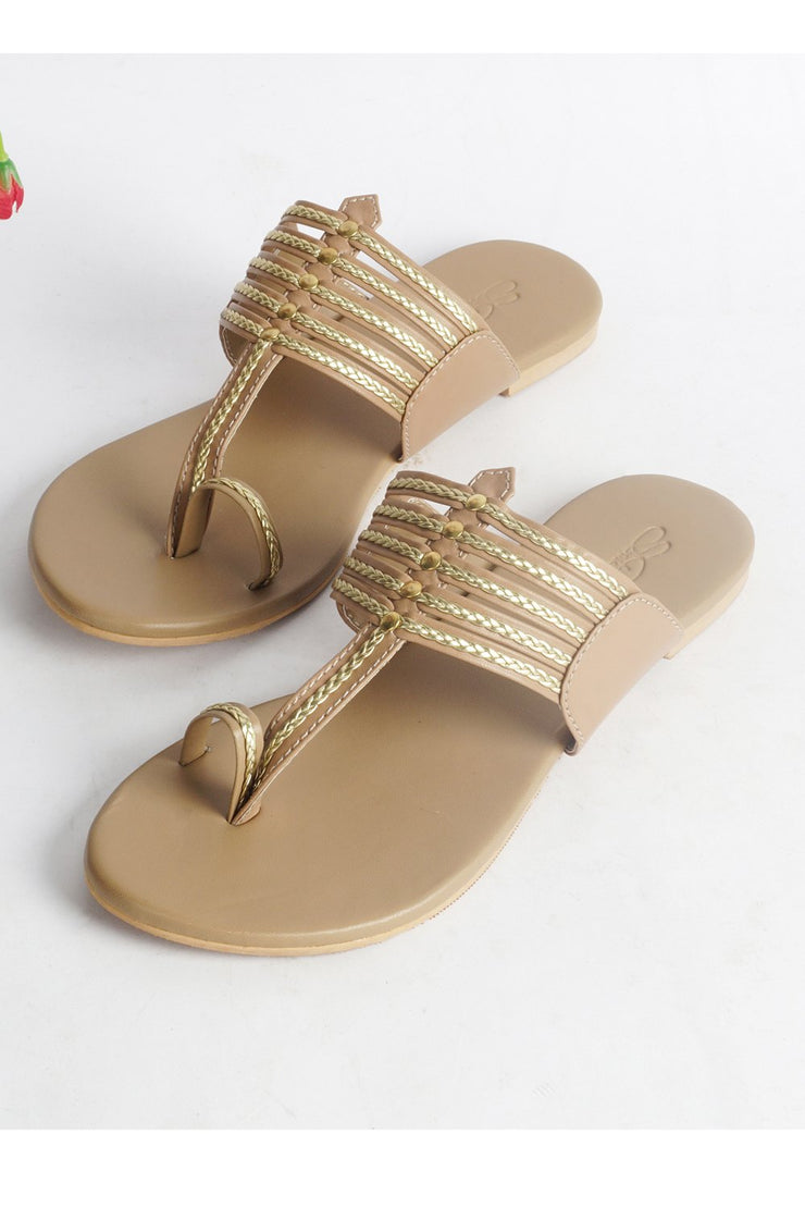 Shop Kolapuri Flats Online For Women
