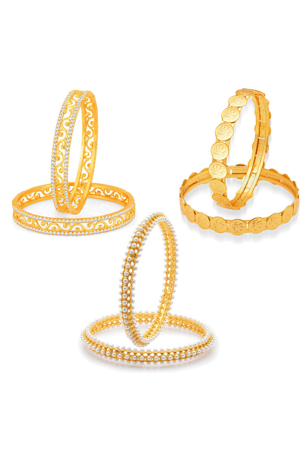 Alloy Bangle Set in Gold