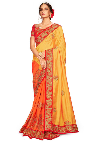 Buy Silk Embroidered Saree For Woman's