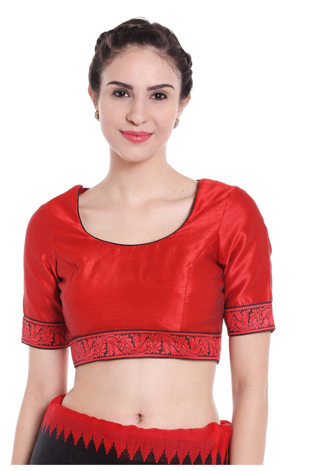 Art Silk Blouse in Red