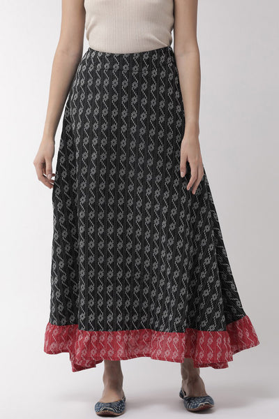 Pure Cotton Skirt in Black