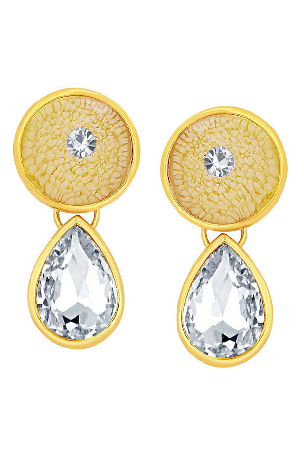 Alloy Drop Earrings in Gold