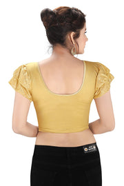 Shimmer Lycra Blouse in Gold