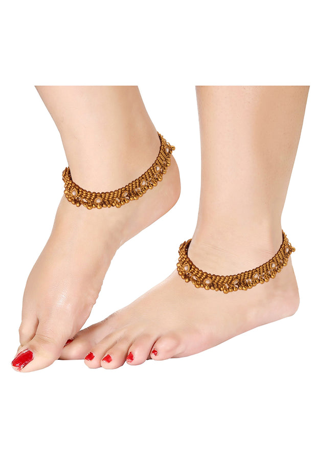 Alloy Anklet in Gold