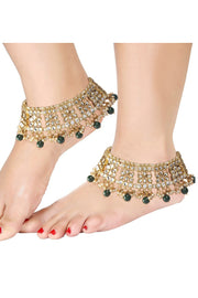 Alloy Anklet in Green