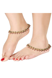 Alloy Anklet in Red