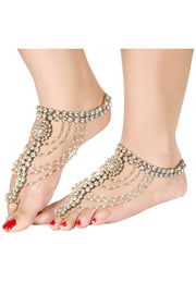 Alloy Anklet in White