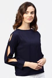 Polyester Top in Blue