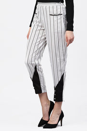 Women's Polyester Palazzo Pant in White