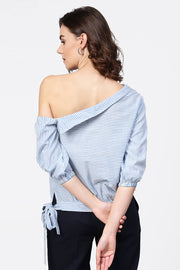 House Of Nayo Pure Cotton Top in Blue