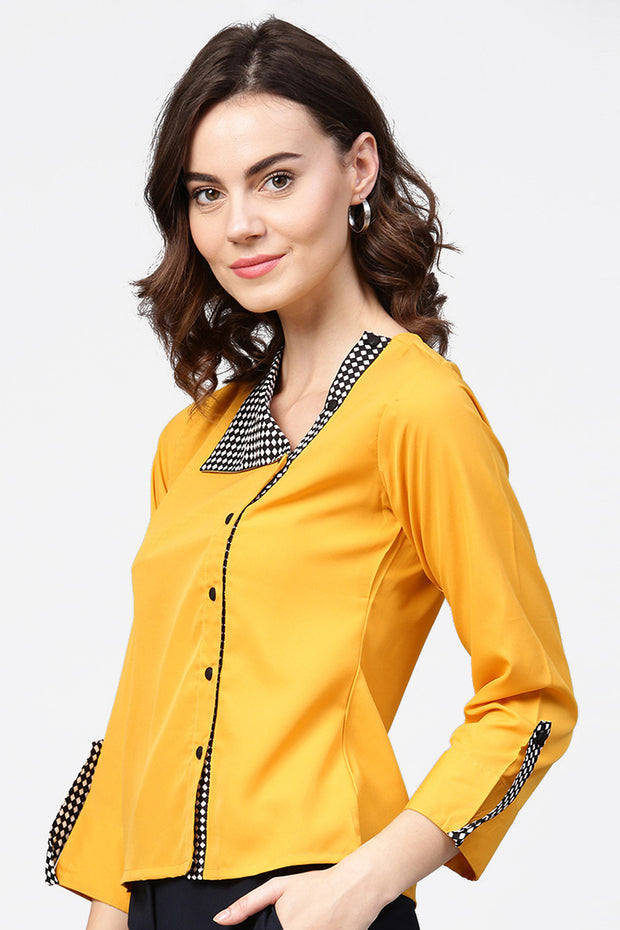 Polyester Top in Yellow