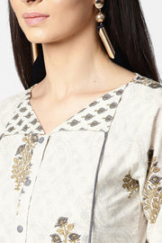 House Of Nayo Pure Cotton Top in Off-White