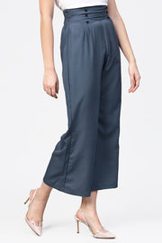 Women's Polyester Palazzo Pant in Grey