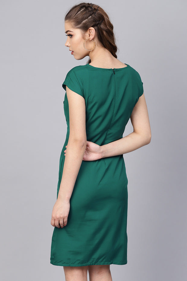 Polyester Dress in Green