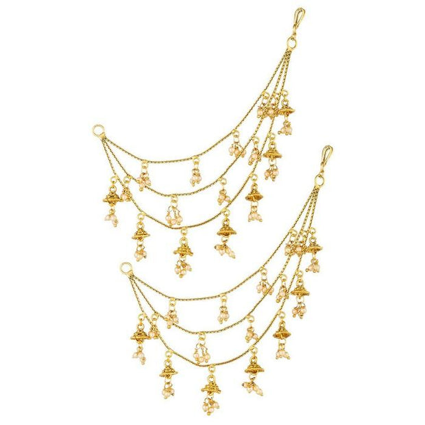 The Luxor Women's Alloy Earring Chain in Gold