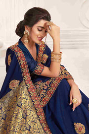 Karmaplace Embroidery Saree