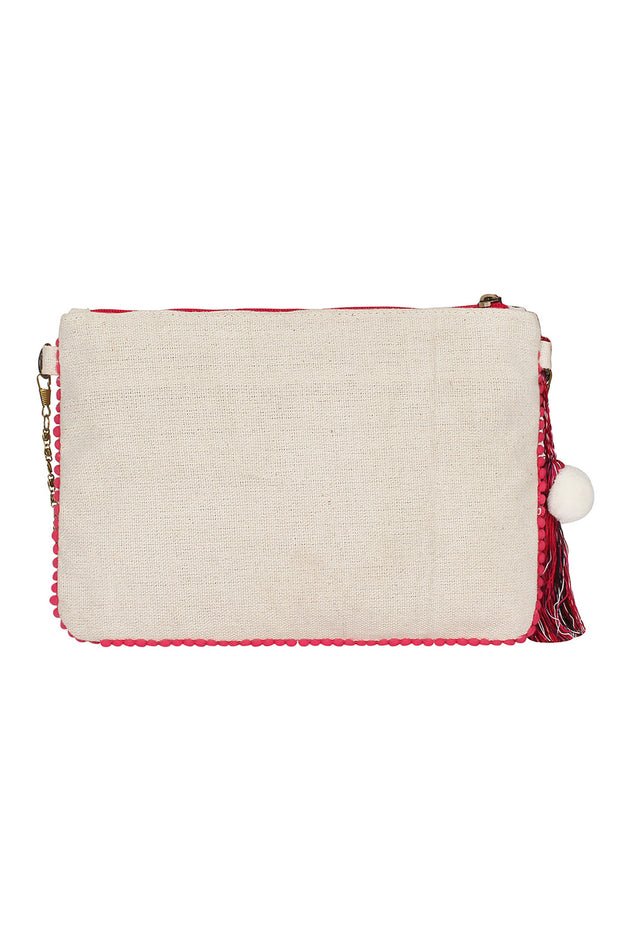Canvas Sling Bag in White