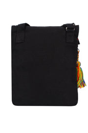 Cotton Canvas Sling Bag in Black