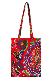 Canvas Handbag in Multi-color