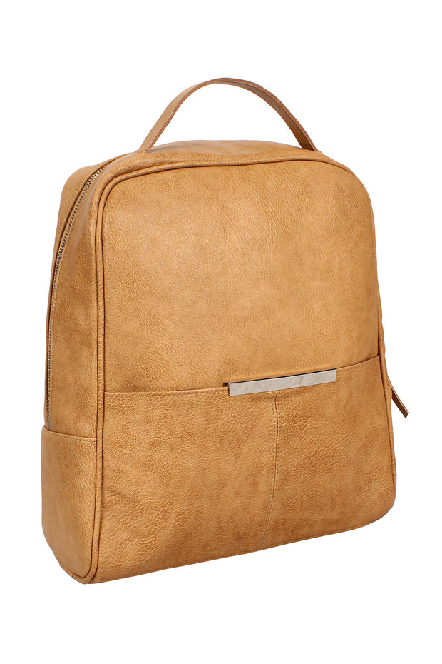 Leatherite Backpack in Tan