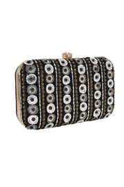 Faux Silk Clutch in Black