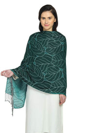 Viscose Shawl in Green