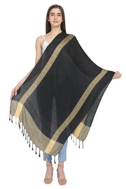 Viscose Stole in Black And Yellow