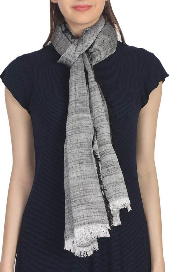Viscose Stole in Grey