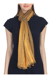 Viscose Stole in Yellow And Black
