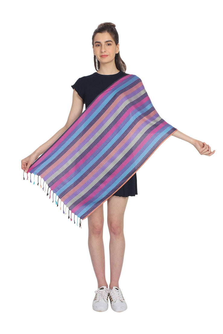 Viscose Stole in Multi-Color