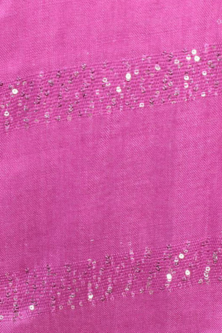 Viscose Stole in Magenta And Silver