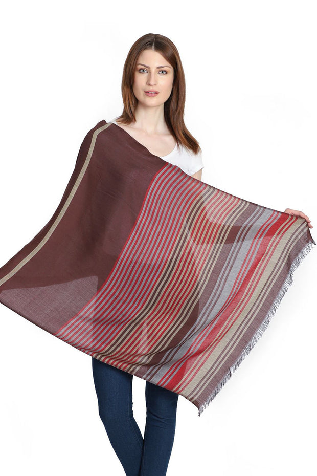 Viscose Stole in Brown