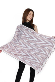 Viscose Stole in Brown And White